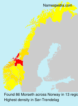 Surname Morseth in Norway