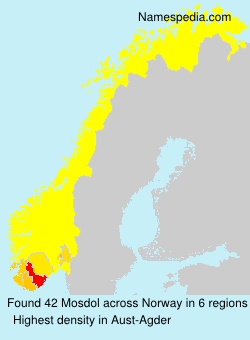 Surname Mosdol in Norway