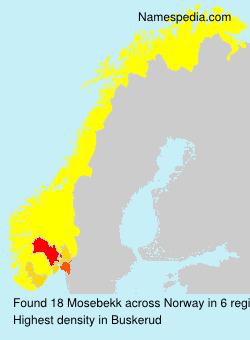 Surname Mosebekk in Norway