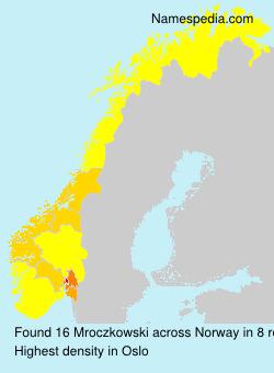 Surname Mroczkowski in Norway