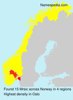 Familiennamen Mrsic - Norway