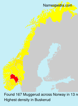 Surname Muggerud in Norway