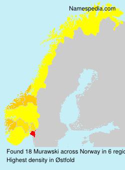 Surname Murawski in Norway