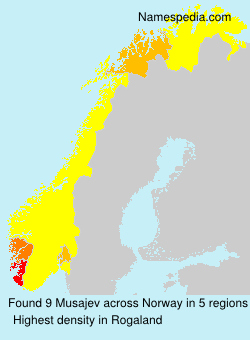 Surname Musajev in Norway