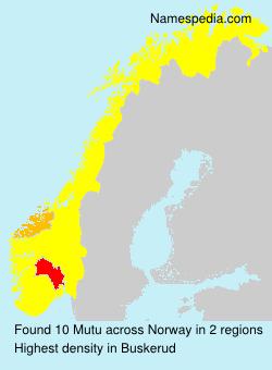 Surname Mutu in Norway