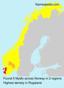 Surname Mydlo in Norway