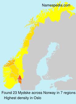 Surname Mydske in Norway