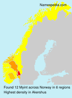 Surname Myint in Norway