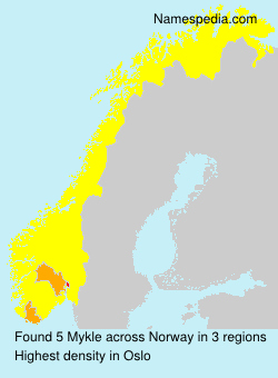 Surname Mykle in Norway