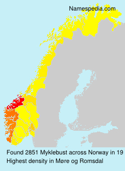 Surname Myklebust in Norway