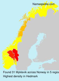 Surname Myklevik in Norway