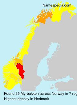 Familiennamen Myrbakken - Norway