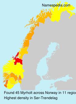 Surname Myrholt in Norway