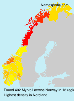 Surname Myrvoll in Norway