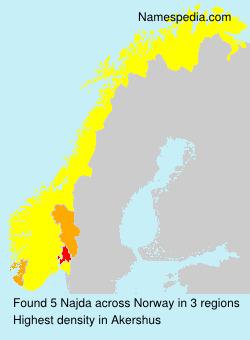 Surname Najda in Norway
