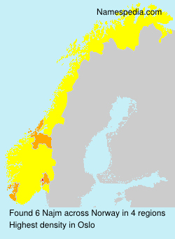 Surname Najm in Norway