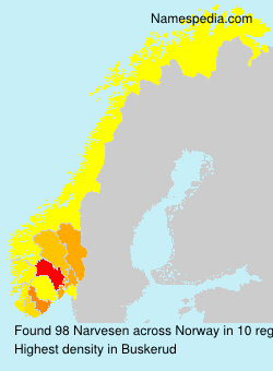 Surname Narvesen in Norway