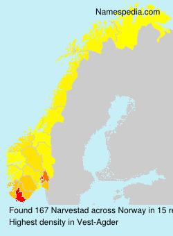 Surname Narvestad in Norway