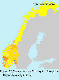 Familiennamen Nasser - Norway
