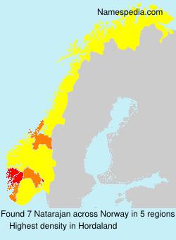 Surname Natarajan in Norway
