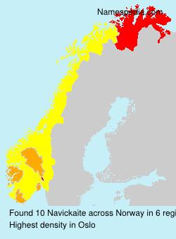 Surname Navickaite in Norway