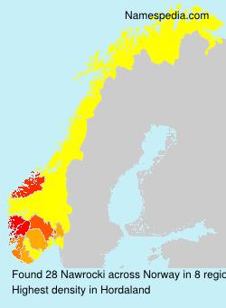 Surname Nawrocki in Norway