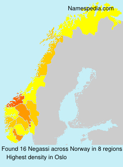 Surname Negassi in Norway