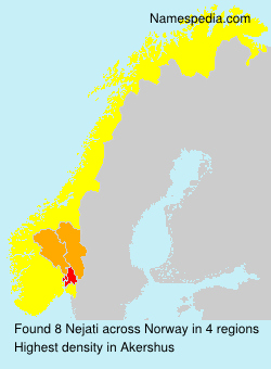 Surname Nejati in Norway