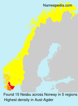 Surname Nesbu in Norway