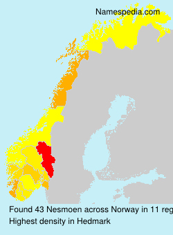 Surname Nesmoen in Norway
