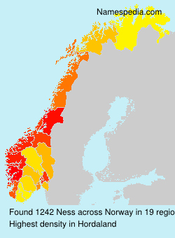 Surname Ness in Norway