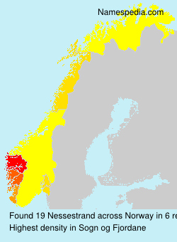 Surname Nessestrand in Norway