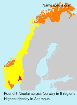 Surname Nicolai in Norway