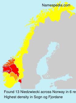 Surname Niedzwiecki in Norway