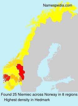Familiennamen Niemiec - Norway