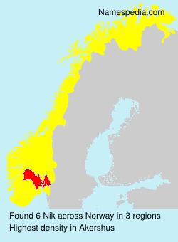 Surname Nik in Norway