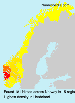 Surname Nistad in Norway
