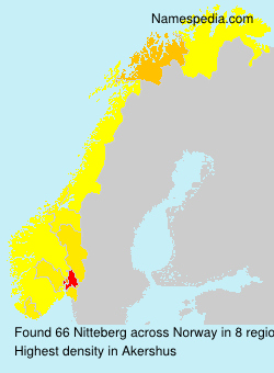 Surname Nitteberg in Norway
