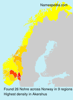 Surname Nohre in Norway