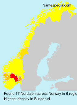 Surname Nordalen in Norway