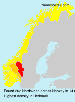 Surname Nordsveen in Norway