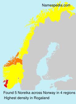 Familiennamen Noreika - Norway