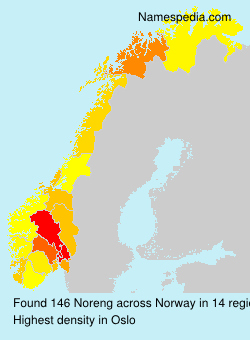 Surname Noreng in Norway