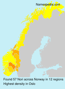 Surname Nori in Norway