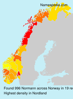 Surname Normann in Norway
