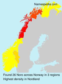 Familiennamen Noro - Norway