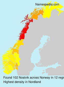 Surname Nostvik in Norway