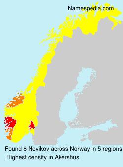 Surname Novikov in Norway
