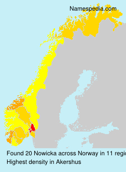 Surname Nowicka in Norway