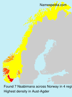 Familiennamen Nsabimana - Norway